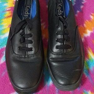 keds black leather 10